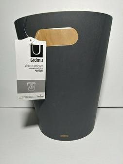 Umbra Woodrow, 2 Gallon Modern Wooden Trash Can Wastebasket