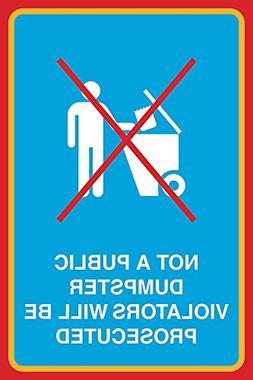 Feddiy Not A Public Dumpster Violators Will Be Prosecuted Ga