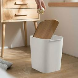ABS Square Kitchen Bathroom Toilet Garbage Trash Can Waste B