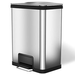 halo AirStep 13 Gallon Kitchen Trash Can – Stainless Steel