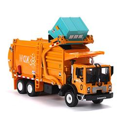 Garbage Truck Toy Model, 1:43 Scale Metal Diecast Recycling
