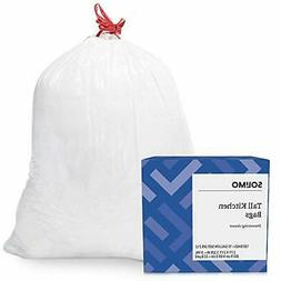Amazon Brand - Solimo Tall Kitchen Drawstring Trash Bags, 13