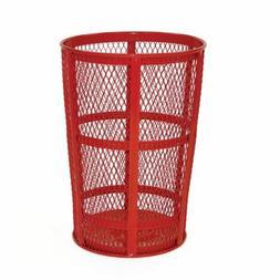 Americana Powder Coated Street Basket, Red
