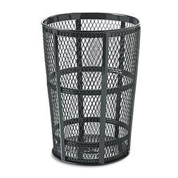 48-Gal Americana Powder Coated Street Basket  Color: Black