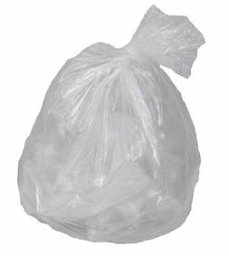 "Garbage Can Liners 24"" x 32"". Pack of 1000 Clear Trash Bags."