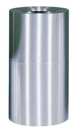 Atrium Open Top Steel Container - 35 Gallons Color: Aluminum