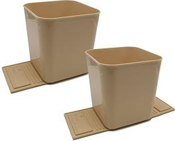 Auto Car Garbage Trash Can Bin Waste Container One Gallon -
