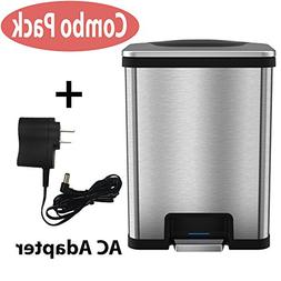 iTouchless AutoStep Automatic Step Trash Can with AC Adapter