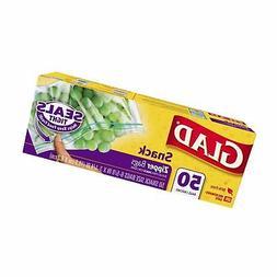 Glad Zipper Food Storage Snack Bags - 50 Count - 12 Pack