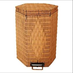 Bamboo and rattan trash cans creative fashion bathroom garba