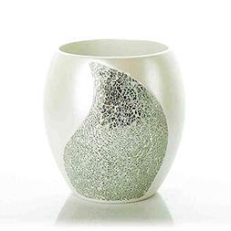 Bathroom Broken Glass Resin Decorative Flower Barrel Table G