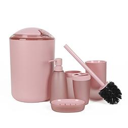 6 Piece Bathroom Accessories Set,Luxury Plastic Bath and Sho