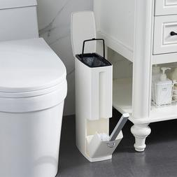 Bathroom trash bucket Set Waste Bin Plastic with Toilet Brus