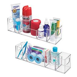 mDesign Bathroom Vanity Countertop Multi-Level Organizer for