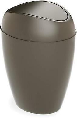 Bathroom Waste Garbage Basket Trash Can With Swing Lid 2.2Ga