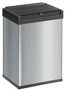 Hailo Big Box 40 Swing Waste Bin in Silver