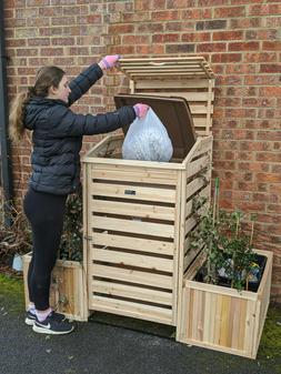 Bin Garden Garbage Can Cover Trash storage. Planters store c