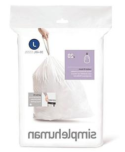 Simplehuman Bin Trash Can Bags Liners New 30-40l Litres Size