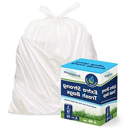 Freedom Living Biodegradable Heavy Duty White Trash Bags wit