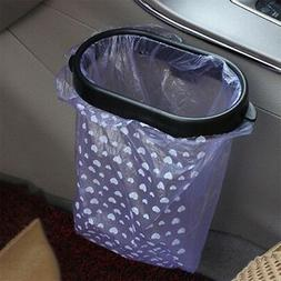 Black Auto Car Garbage Trash Carry Bag Sucker Trash Can Rack