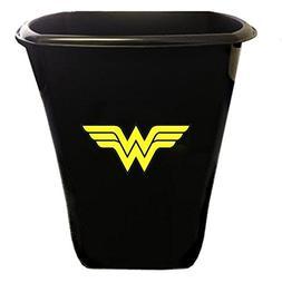 black finish trash can waste