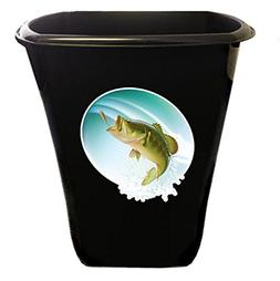 The Furniture Cove New Black Finish Trash Can Waste Basket f
