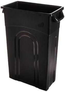 United Solutions 23 Gal. Black Highboy Waste Container Trash