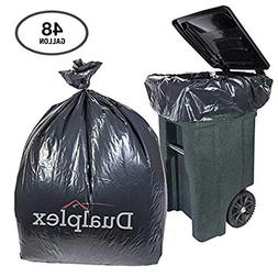 Dualplex 48 Gallon Black Trash Bags for Toter 1.5 Mill Garba