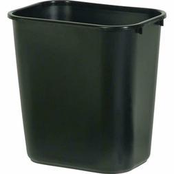 Black Trash Can Wastebasket Garbage Bin Home Office Bathroom
