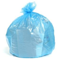 Plasticplace Blue Recycling Bags 40 Gallon 23x10x46 1.2 Mil