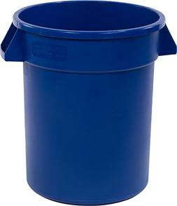 20 Gallon Blue Round Trash Can 6-Pack Heavy-Duty Garbage Was