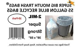 Super Big Mouth Trash Bags® 55 Gallon BLUE Tinted Recycle T