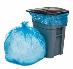 PlasticMill 65 Gallon 100 Bags//Case 1.5 Mil Garbage Bags. 50X48 Blue