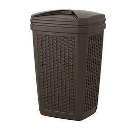 Suncast BMWC3007 Resin Wicker Trash Hideaway, 30 gallon, Jav