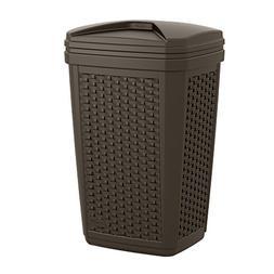 Suncast BMWC3007 Resin Wicker Trash Hideaway, 30 gallon, Jav