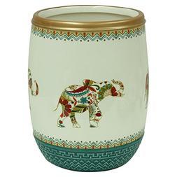 Bacova Guild 89153 Boho Elephant Wastebasket, Multicolor