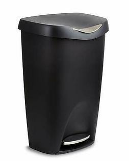 Umbra Brim 13 Gallon Trash Lid-Large Kitchen Garbage Can wit