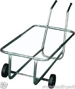 Brinkmann Rolling Garbage Metal Can Caddy Holds 2) 30 Gallon