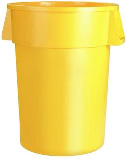 Carlisle Bronco 20 Gal. Yellow Round Trash Can 6-Pack Bin Ga