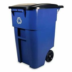 Rubbermaid Brute 9W2706BE Rollout Recycling Container with L