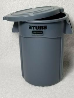 Rubbermaid BRUTE GRAY Mini Miniature Bin Garbage Trash Can L