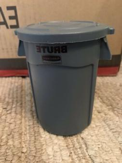 Rubbermaid BRUTE Grey Mini Miniature Bin Garbage Trash Can L