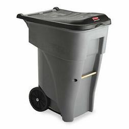 Rubbermaid Brute 65 Gallon Rollout Trash Container, Gray
