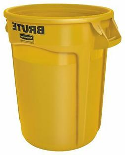 BRUTE 32 Gallon Round Containers - Color: Yellow