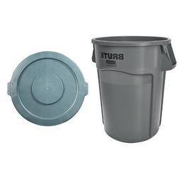 Rubbermaid Commercial Brute Trash Can WITH Matching Lid