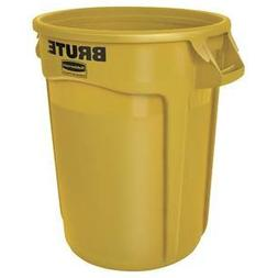 Rubbermaid Commercial BRUTE Trash Can, 32 Gallon, Yellow, FG
