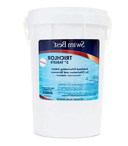 "Swim Best 50 lbs Bucket 3"" Swimming Pool Chlorine Tablets, S"