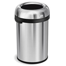 simplehuman Bullet Open Trash Can, Commercial Grade, Heavy G