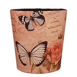 Butterfly Trash Can Samyoung Home Decor European Style PU Le