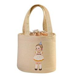 Canvas Lunch Storage Bag Portable Tote Bento Pouch Muranba